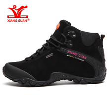 XIANGGUAN Brand Men Hiking Shoes Waterproof Walking Sneakers For Man Durable Outdoor Sport Climbing Camping US Large Size 6-15