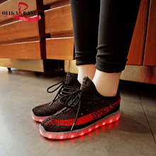 2017 New Arrival Men/ Women  Colorful LED Light Up Glow Flashing Luminous USB Rechargeable Sneaker Slip On Shoes