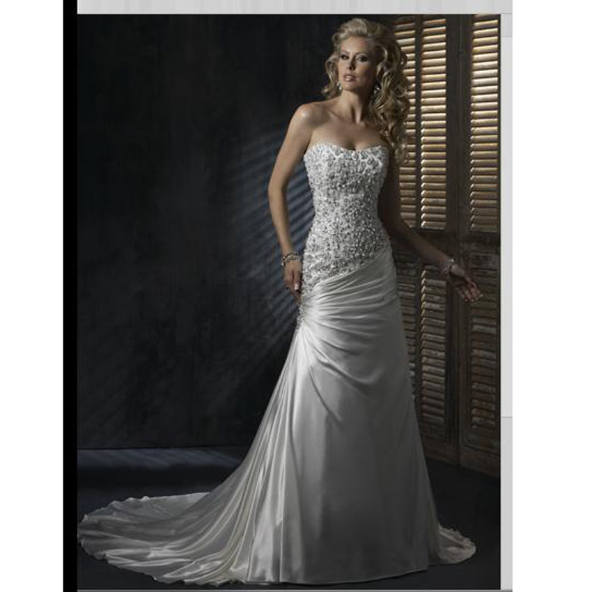 Online get cheap silver wedding dresses for Silver wedding dresses for bridesmaids