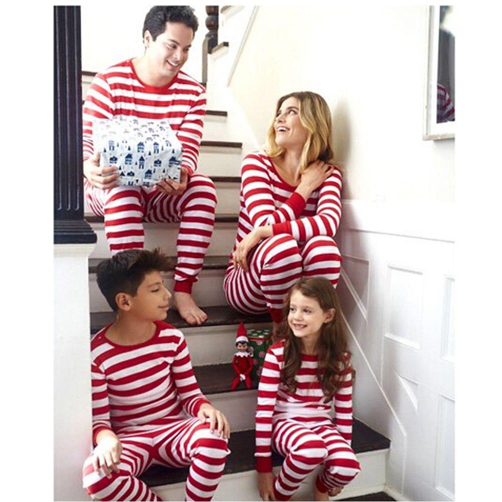 73319ac11c Family Matching Christmas Pajamas PJs Sets Xmas Striped Sleepwear Nightwear  UK