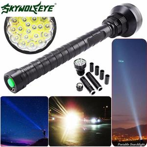 DC 27 Shining Hot Selling Fast Shipping 28000LM CREE XM-L LED 21x T6 Super Flashlight Torch Lamp Light 5Mode 26650 18650