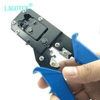 Rj45 crimper tool rj11 cat5e cat6 kabel crimpen werkzeug netzwerk zangen werkzeug 8 P/6 P multi-funktion kabel zangen  peeling scher