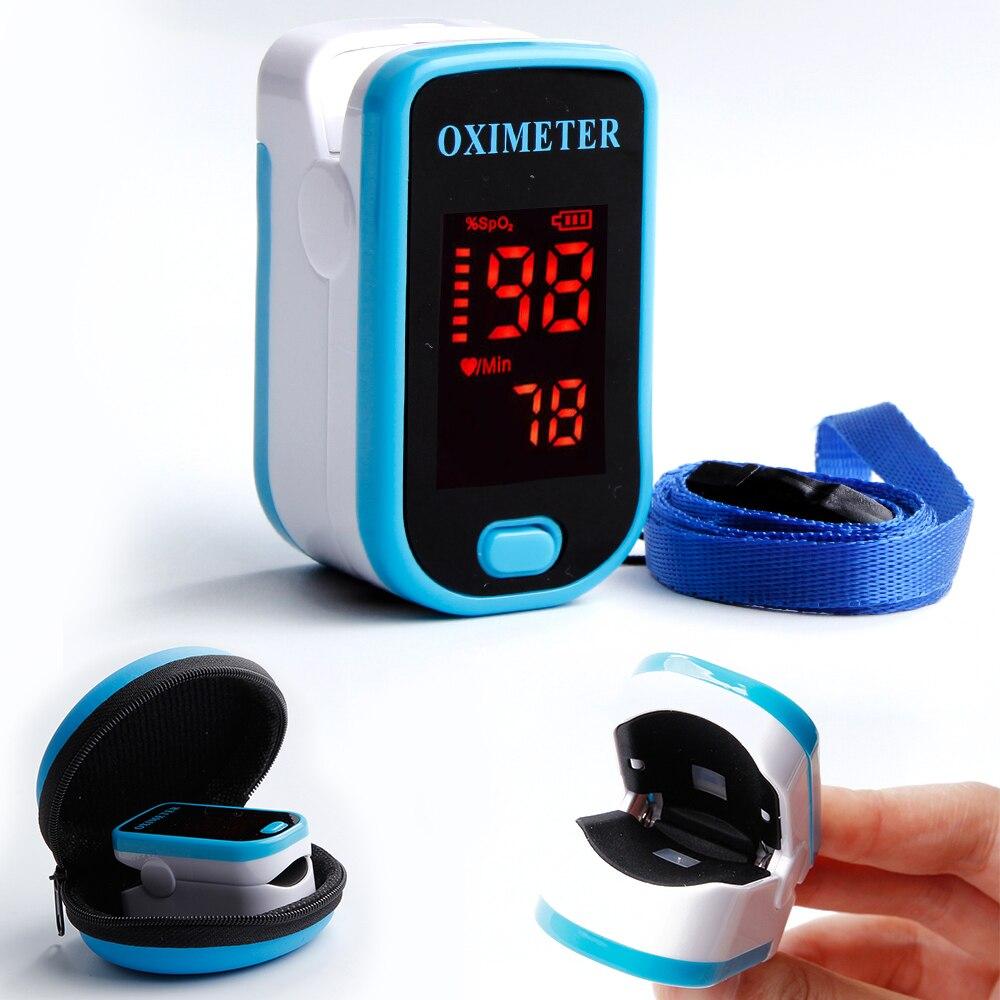 Oximetro de Dedo Dispositivo Portátil Médicos Alcance Lcd