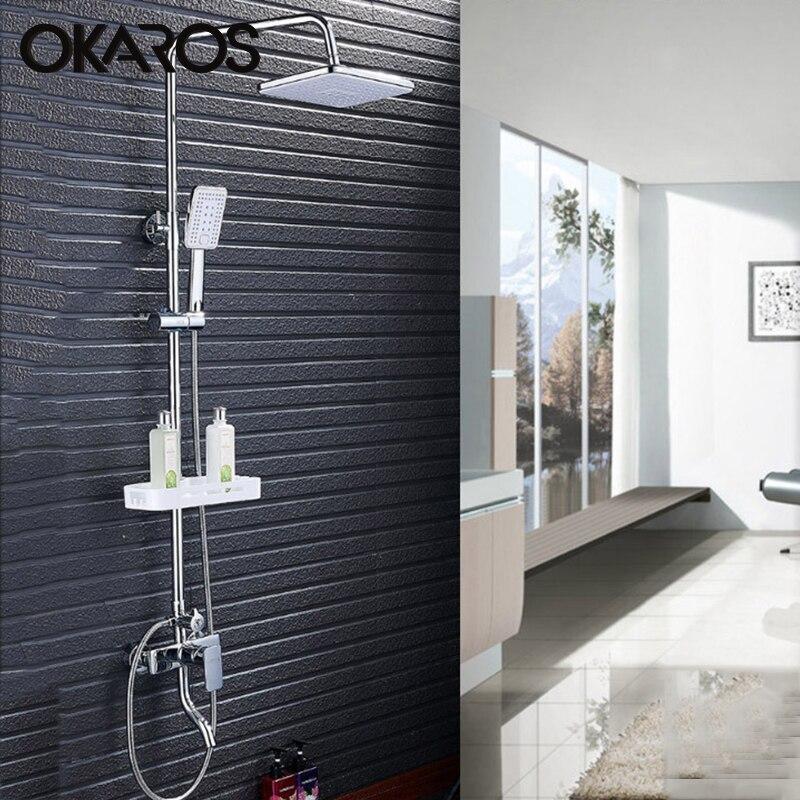 OKAROS BathtubBrass Shower Faucet Set With ABS Hand Shower Head ...