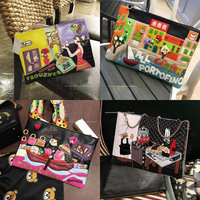 2018 Women Purses crossbody bags S Leather Clutch bags Famous Brand designer Female handbags high quality Chain Organ Bag