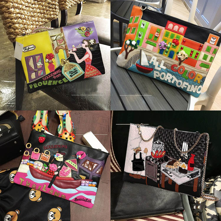 2018 Women Purses crossbody bags S Leather Clutch bags Famous Brand designer Female handbags high quality Chain Organ Bag