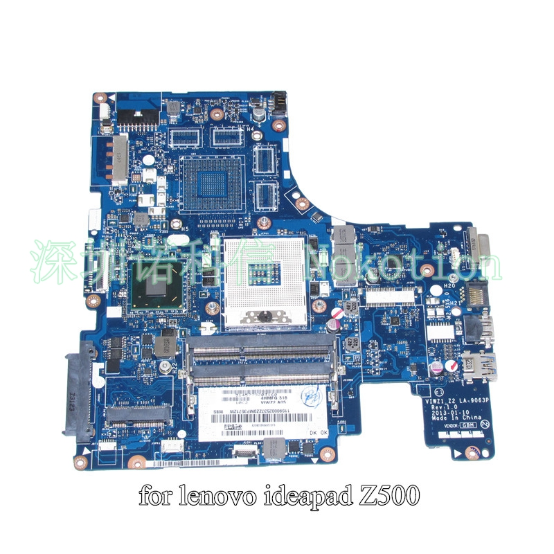 NOKOTION VIWZ1 Z2 LA-9063P laptop motherboard for lenovo ideapad Z500 HD4000 HM76 DDR3 intel HD graphics Mainboard laptop motherboard for lenovo ideapad g580 qiwg5 g6 g9 la 7981p 71jv0138003 hm76 nvidia gt630m ddr3