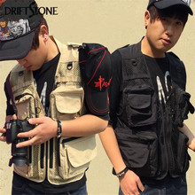 Camouflage cloth multifunctional vest double-layer mesh lot pockets photography outerwear vests