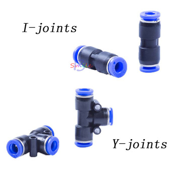 10Pcs Dental Lab Air Compressor Tubes Adapter Joint Connectors Y-joints/I-joints free shipping sg 50 63 m16x1 5 iso6431 cylinder attachment y type joint u joints y page 3