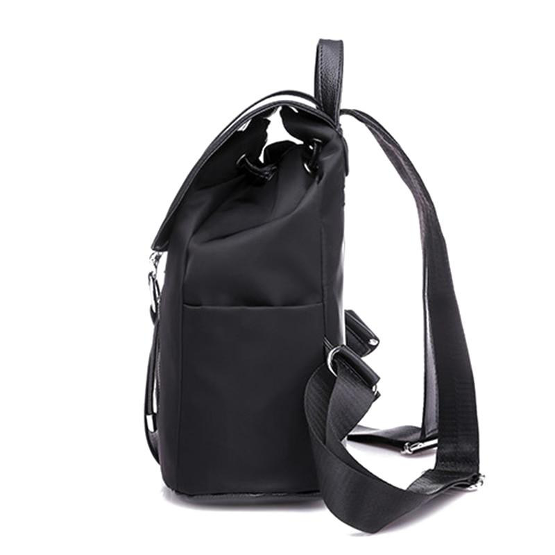 Women Backpack School Bags For Teenager Girls Nylon Zipper Lock Design Black Femme Mochila Female Backpack Women Backpack School Bags For Teenager Girls Nylon Zipper Lock Design Black Femme Mochila Female Backpack Fashion Sac A Dos