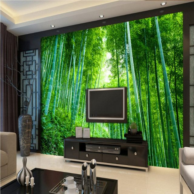 Online-Shop 3D foto tapeten Bambus wald jungle landschaft ...