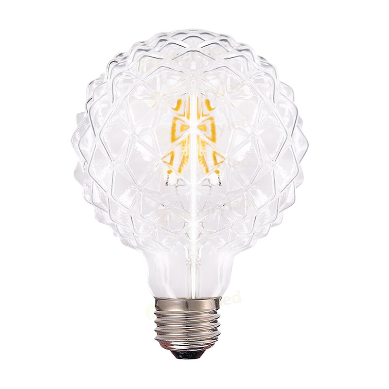 Ice Shaped,Diamond 95 LED Filament Bulb,4W,Warm White,E26 E27 Base Shape,110V 220VAC,Dimmable