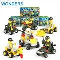 5 cm pequeños Bloques de Construcción Serie Militar Modelo de camión Excavadora Bulldozer Kits Miniatura Bebé Niños Juguetes Desarrollo Intelectual