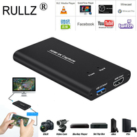 4K 1080P 60 HDMI to USB 3.0 Video Capture Card Recording Box For PS4 TV Xbox DVD Phone Game PC OBS VLC Youtube Live Streaming