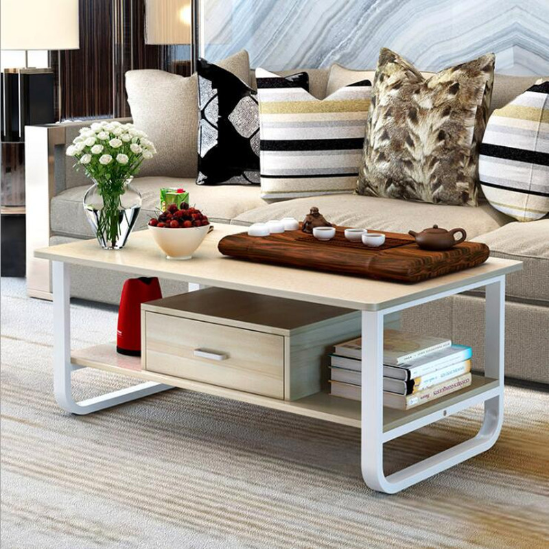 купить Minimalist Coffee Table Furniture table basse Living room Table Set With Drawer Wooden Furniture mesas de centro para sala по цене 15087.29 рублей