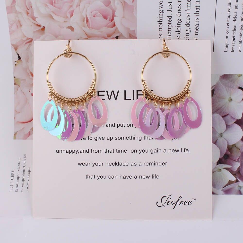 JIOFREE New Arrival Shining Handmade Clip on Earrings Wihtout Piercing for Women Party Elegant Earrings Christmas Gift
