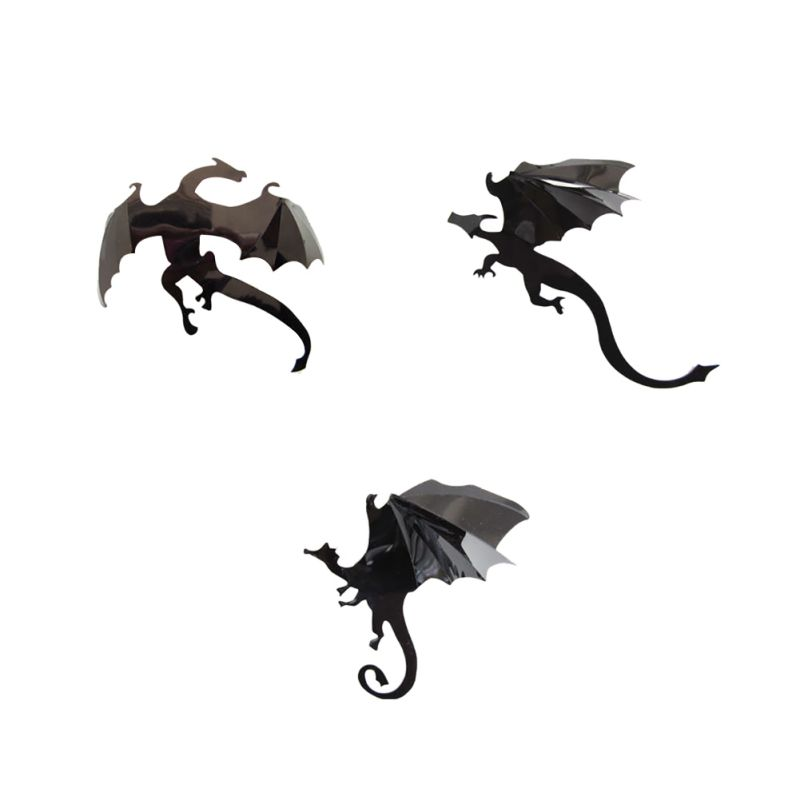 7 Pcs/set 3D DIY PVC Dragon Wall Stickers Halloween Decoration Wall Decals  Vintage Poster Background Decorative In Wall Stickers From Home U0026 Garden On  ...