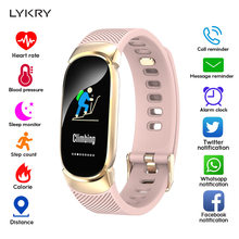 LYKRY Women Smart Watch Sport Pedometer Smartwatch Blood Pressure Oxygen Heart Rate Monitor Fitness Tracker Call Alarm Reminder(China)