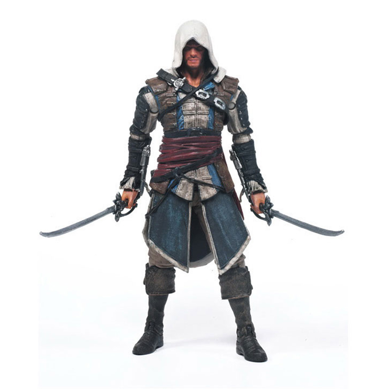 Games Figurine Assassins Creed 4:Black Flag 15cm PVC Model Assassin Creed Hidden Blade Action Figure Toys assassins creed 4 black flag games figurine connor 15cm pvc model figma assassin creed hidden blade nendoroid toy for collection