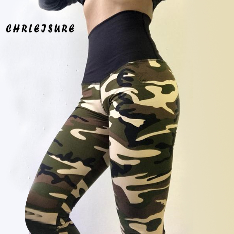 SVOKOR Women High Waist Leggings  Camouflage Casual Polyester Push Up Work Out Print Jegging Adventure Time Fold Girl Legging