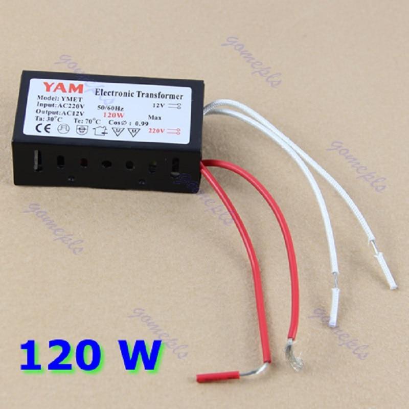120 Вт 220 В галогенной лампы LED Driver Питание конвертер электронный трансформатор-l057 Новый горячий
