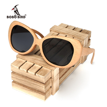BOBO BIRD Handmade Wooden Pilot Sunglasses Men Fashion Style Polarized Sun Glasses With Box Accept Drop Shipping OEM C-AG003