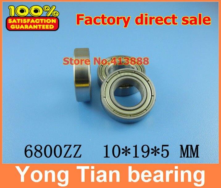50 шт./лот высокого качества ABEC-3 z2v1 тонкие стенки радиальный шарикоподшипник 6800zz 6800z 10*19*5 мм