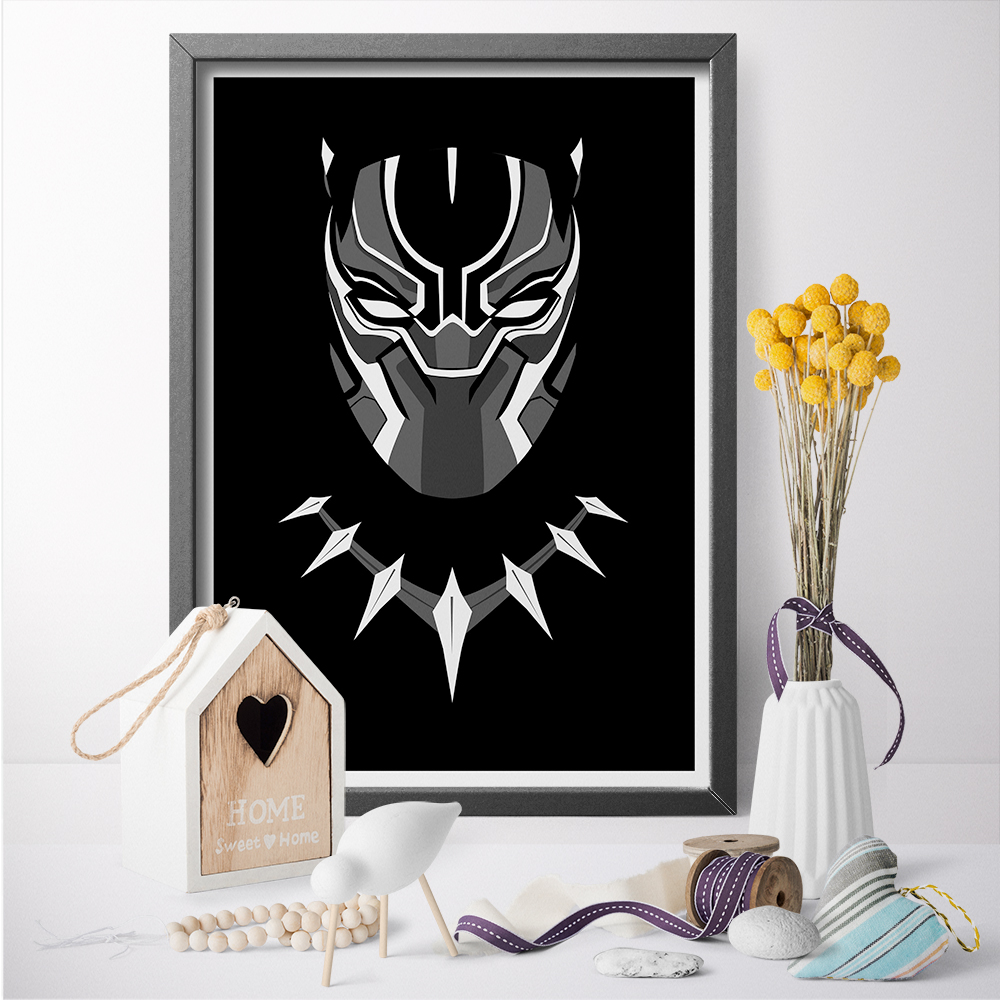 Black Panther Superhero Movie Wall Art Canvas Poster Print Canvas Painting Wall Sticker For Home Decoration