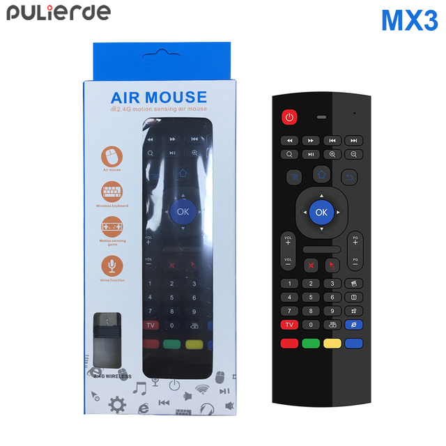 Cheap PULIERDE MX3 Pro 2.4GHz English Wireless Keyboard IR learning extend Remote Control Backlit With Voice Mini Air Mouse For TV Box