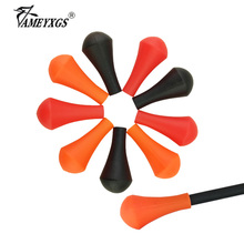12pcs Archery Soft Rubber Arrowhead For 6/8mm Arrow Shaft Safety Target Tips Shooting Game Accessories