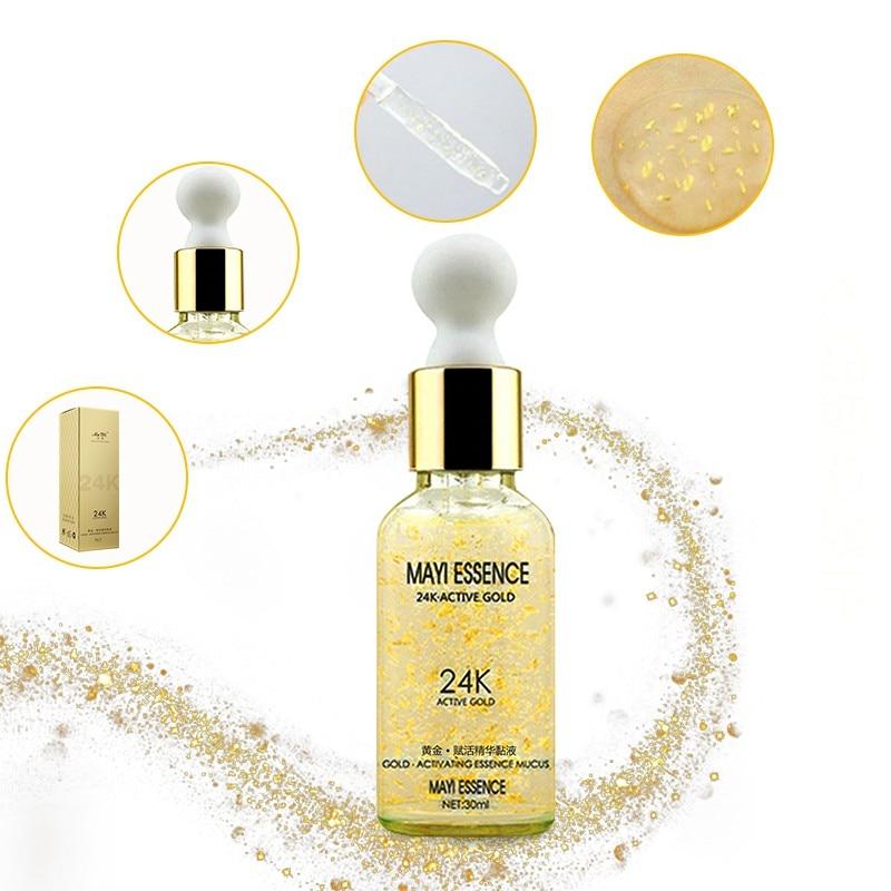 24K Gole Whitening Hyaluronic Acid Essence Face Care Anti Wrinkle Anti Aging Collagen Liquid Skin Whitening Cream Moisturizing
