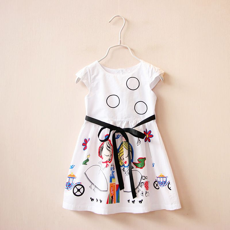 Girls-Summer-Dress-Kids-Clothes-2016-Brand-Baby-Girl-Dress-with-Sashes-Robe-Fille-Character-Princess-Dress-Children-Clothing-2