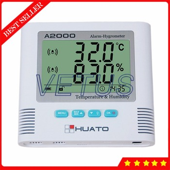 A2000-TH Digital LCD Thermometer Hygrometer with Electronic Temperature Humidity Meter Indoor Outdoor Tester Sound Light Alarm