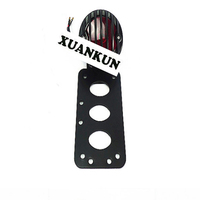 XUANKUN Motorcycle Fittings Black Iron Tail Lamp License Plate Rack Lamp Side Direction Plate Number Grid Brake Lamp