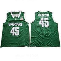 Ediwallen Michigan State Spartans College Basketbal 45 Denzel Valentine Jerseys Voor Sport Fans Borduren En Naaien Groen