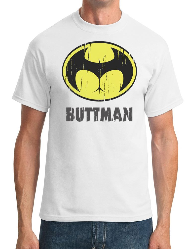 Buttman - Funny Joke Superhero - Mens T-Shirt Men Clothing Plus Size S M L Xl Xxl