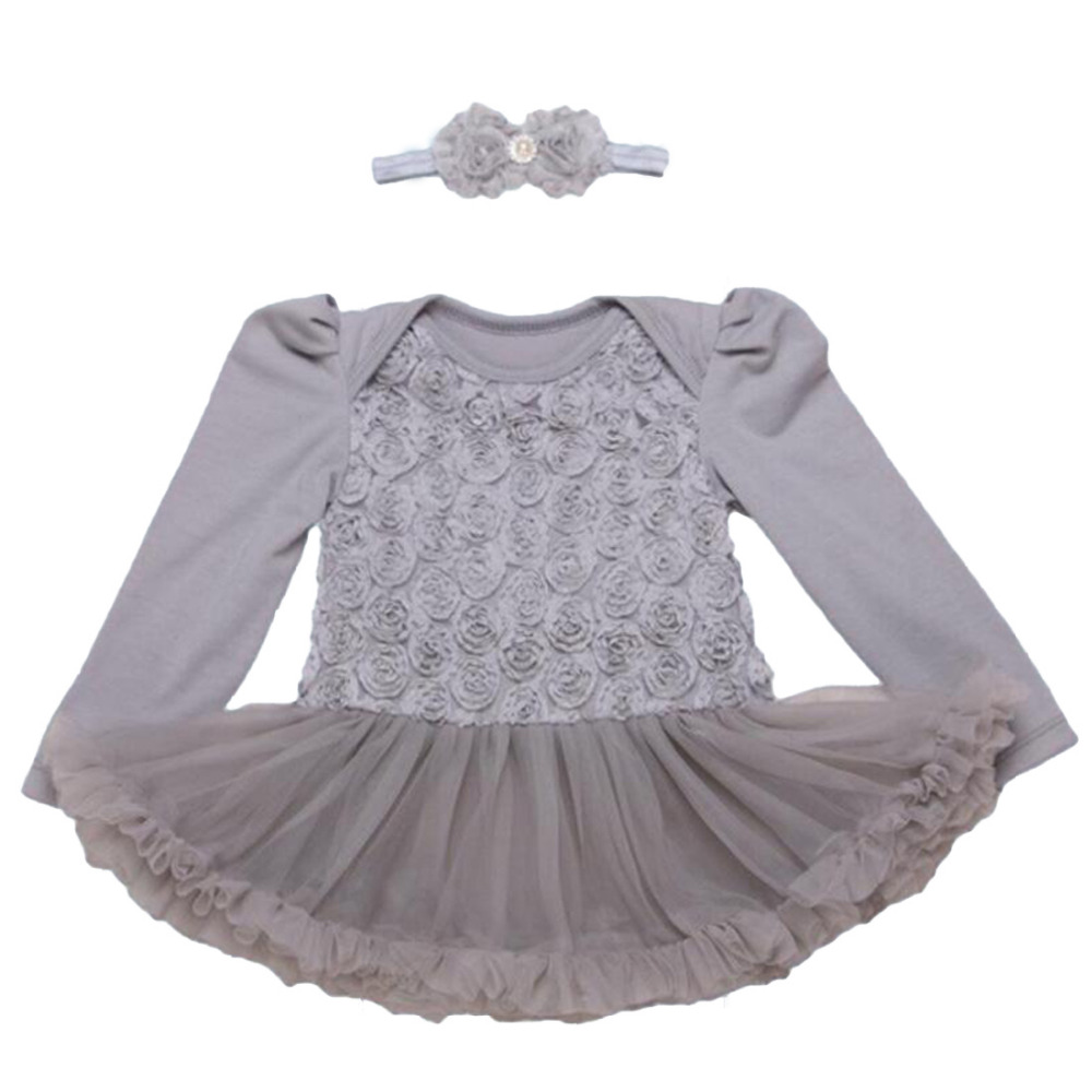 fb11b2abb543 2PCs per Set Pink Grey Purple Red Complex Lace Rose Baby Girls Tutu ...