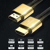 MOSHOU HDMI 2,1 ARC видео кабели 8K @ 60Hz 4K @ 120Hz 48 Гбит/с Полоса пропускания 8K шнур для усилителя ТВ высокой четкости мультимедийный интерфейс
