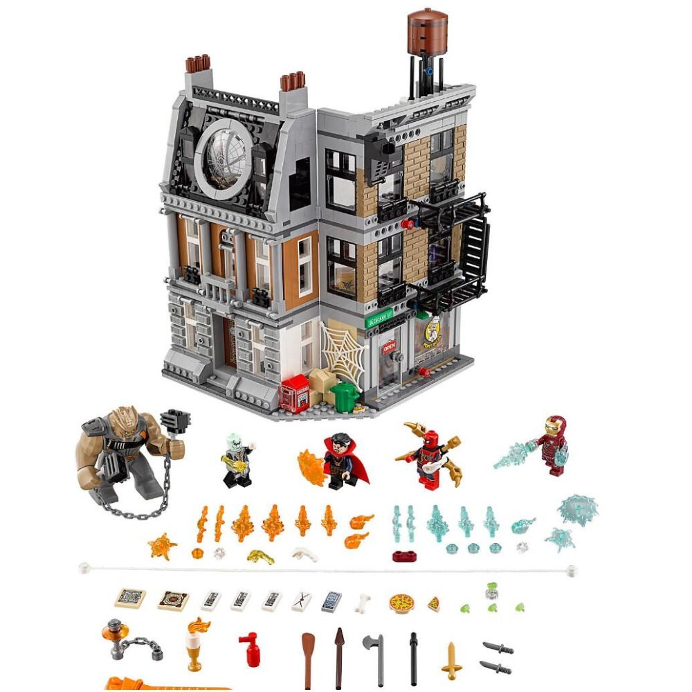 Avengers Marvel DC Super héros Sanctum Sanctorum Showdown blocs de construction Figure briques Compatible avec bela