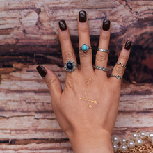 6 PCS/Set Retro Vintage Silver Color Knuckle Midi Rings Set For Women Female Bohemian Boho Rings Jewelry Accessories
