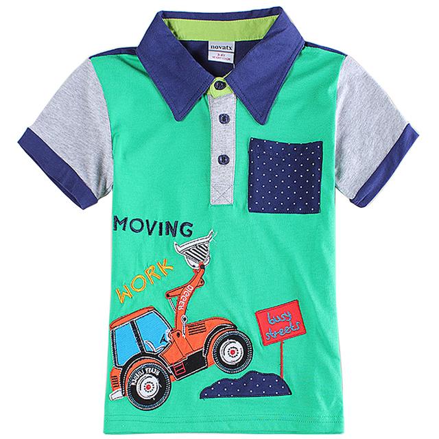 2015 nova marca de moda de nova crianças roupas meninos t shirt carro-styling estilo verão algodão de manga curta camisas de t para meninos C6126
