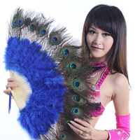 Belly Dance Feather Fan Peacock Feather Fan Belly Dance Accessories Fan Dance