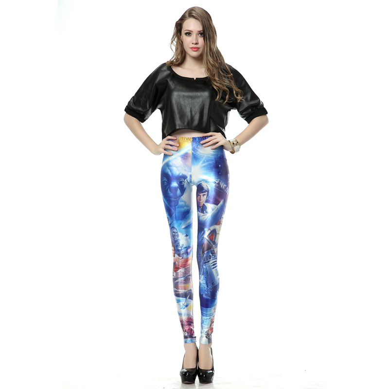 Star Wars: The Force Awakens Printing Leggings Wear Outside Yoga Pants Fitness Of Pants Halloween Cosplay