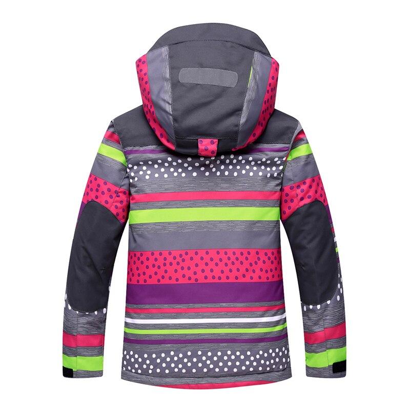 Image 3 - 2019 Winter Kids Girls Snowsuit Ski Sets Warm Hooded Girls Ski  Suit Ski Jacket Pants Outdoor Children Waterproof Snowboard  SuitsClothing Sets