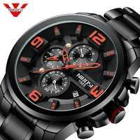 NIBOSI Männer Uhr Reloj Hombre 2018 Herren Uhren Top Brand Luxus Quarzuhr Große Zifferblatt Sport Wasserdicht Relogio Masculino Saat