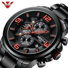 NIBOSI Men Watch Reloj Hombre 2018 Mens Watches Top Brand Luxury Quartz Watch Big Dial Sport Waterproof Relogio Masculino Saat недорого