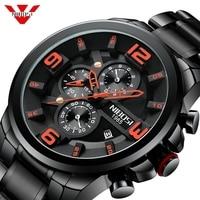 NIBOSI Men Watch Reloj Hombre 2018 Mens Watches Top Brand Luxury Quartz Watch Big Dial Sport Waterproof Relogio Masculino Saat