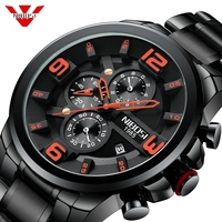 NIBOSI Men Watch Reloj Hombre 2018 Mens Watches Top Brand Luxury Quartz Watch Big Dial Sport Waterproof Relogio Masculino Saat