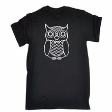 ФОТО new fashion casual cotton short-sleeve short crew neck owl design men's t-shirts