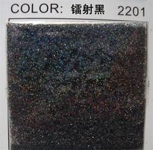 """50 جرام 0.2 مللي متر (1/128 """")008 بوصة غرامة المجسم الملونة الأسود مسمار الفن بريق الغبار مسحوق مسدس الشكل ل مسمار الفن الديكور"""